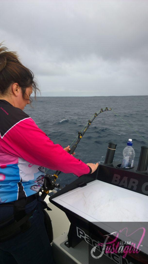 Slicer on her Tuna